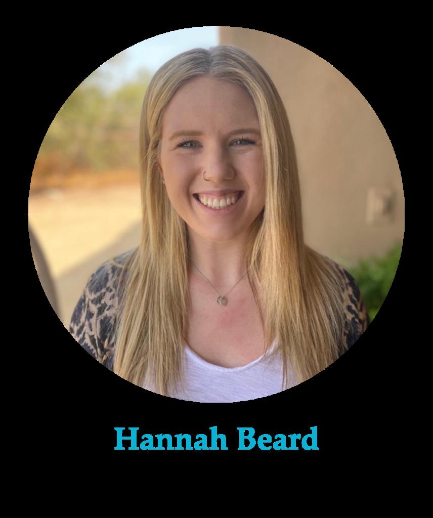 Headshots of Hannah Beard, Community District Leader
