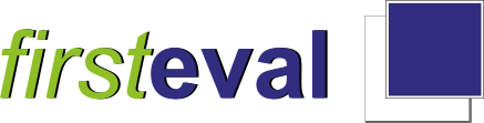 The logo for First Eval