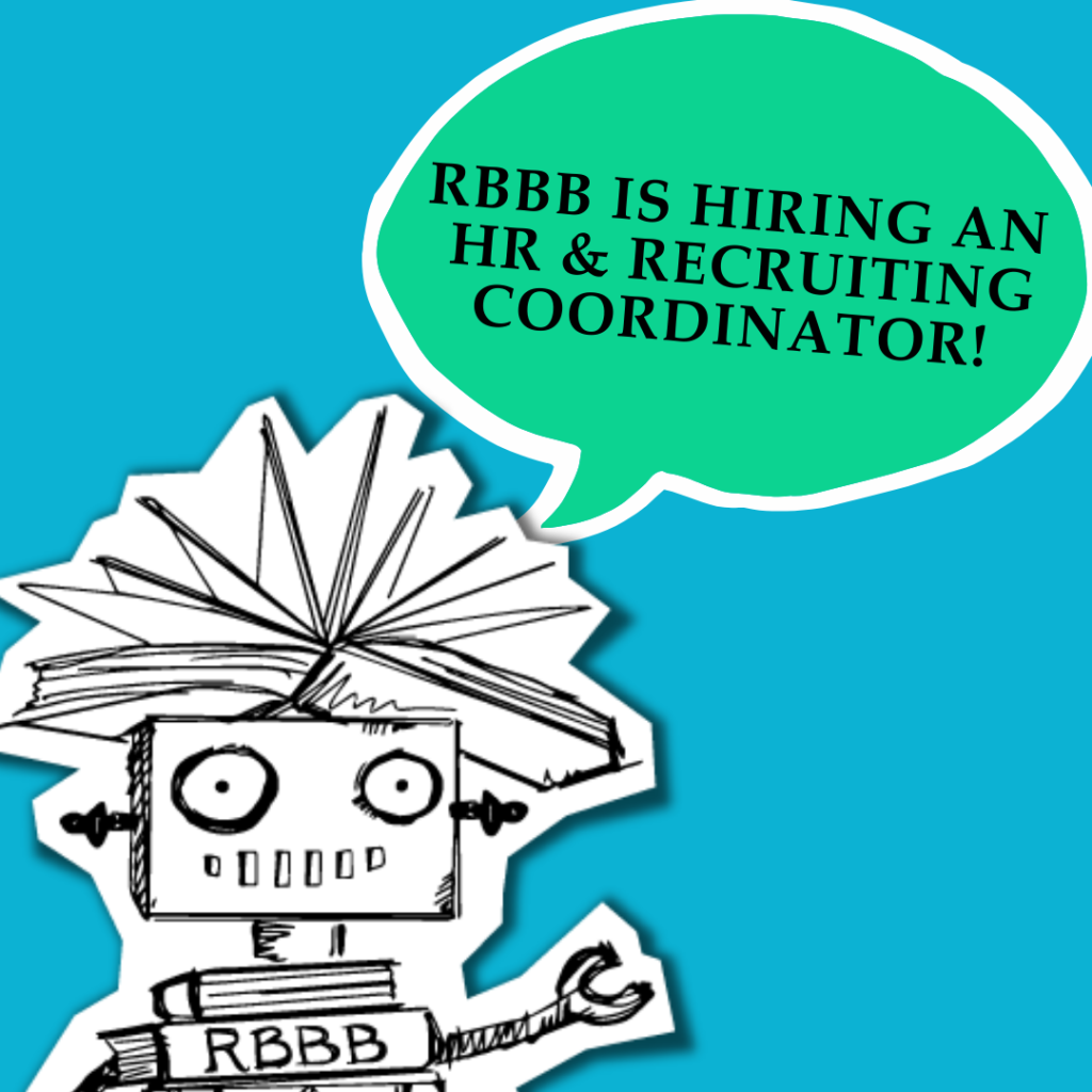 "A speech bubble from Dr. Dave says ""RBBB is hiring an HR & Recruiting Coordinator!"""