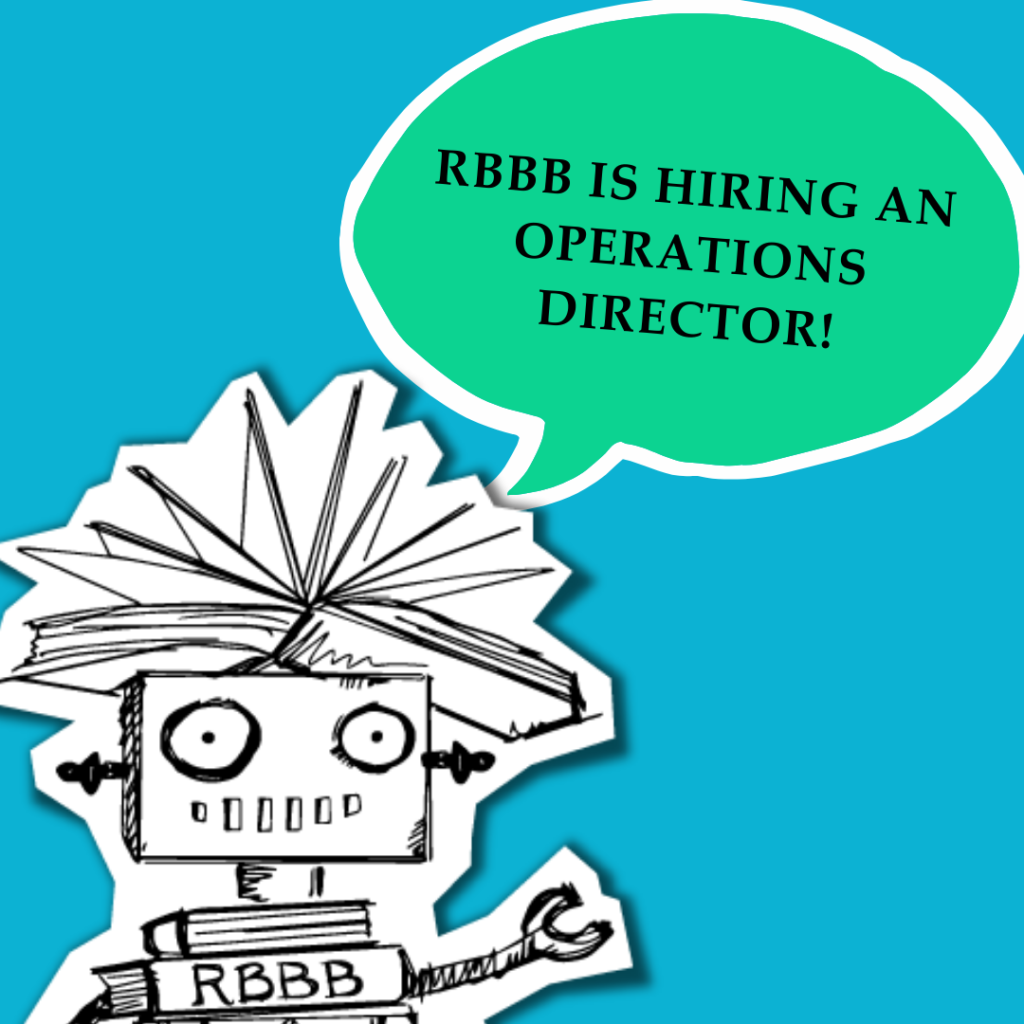"""Dr. Dave with a speech bubble that says, """"RBBB is hiring an operations director!"""""""